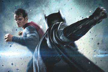 batman v superman film poster front profile