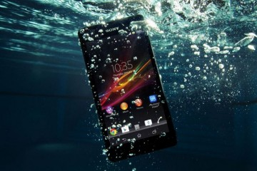 sony phone under the water front profile