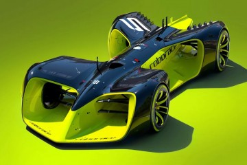 Robo-racing sports car front profile