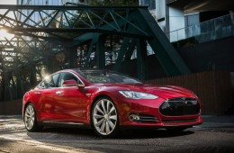 Tesla electric car front profile
