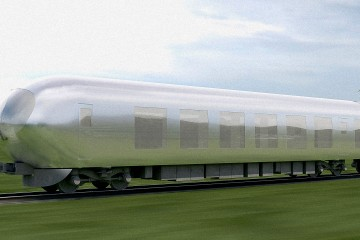 JAPAN'S 'INVISIBLE TRAIN' front profile