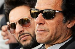 Imran khan shahid afridi side profile