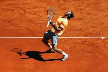 Rafael Nadal celebration front profile