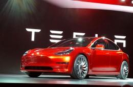 Tesla Model car front profile