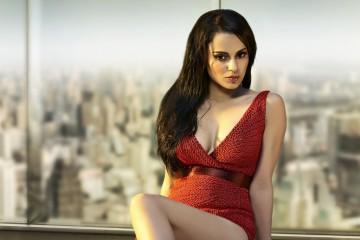 bollywood actress Kangana Ranaut front profile