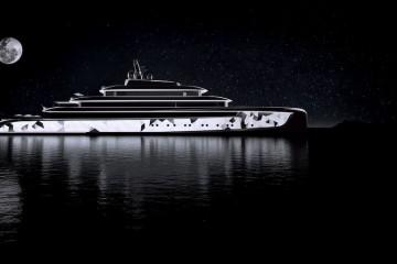 superyacht side profile