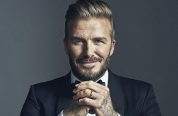 David Beckham front profile