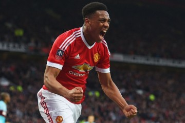 Franch striker Anthony Martial front profile