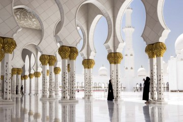 abu dhabi mosque front profile