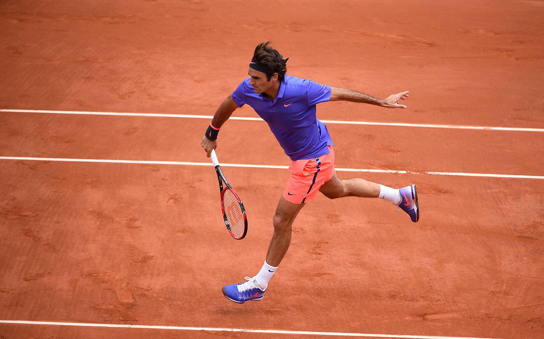 Tennis superstar Roger Federer's front profile