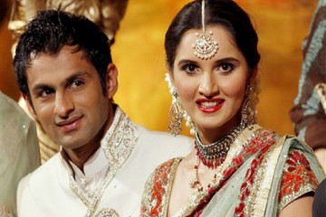 sports couple sania mirza with shoaib malik front profile