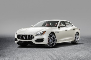 Luxury Italian automobile Maserati front profile