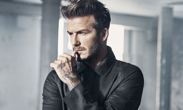 David Beckham front profile