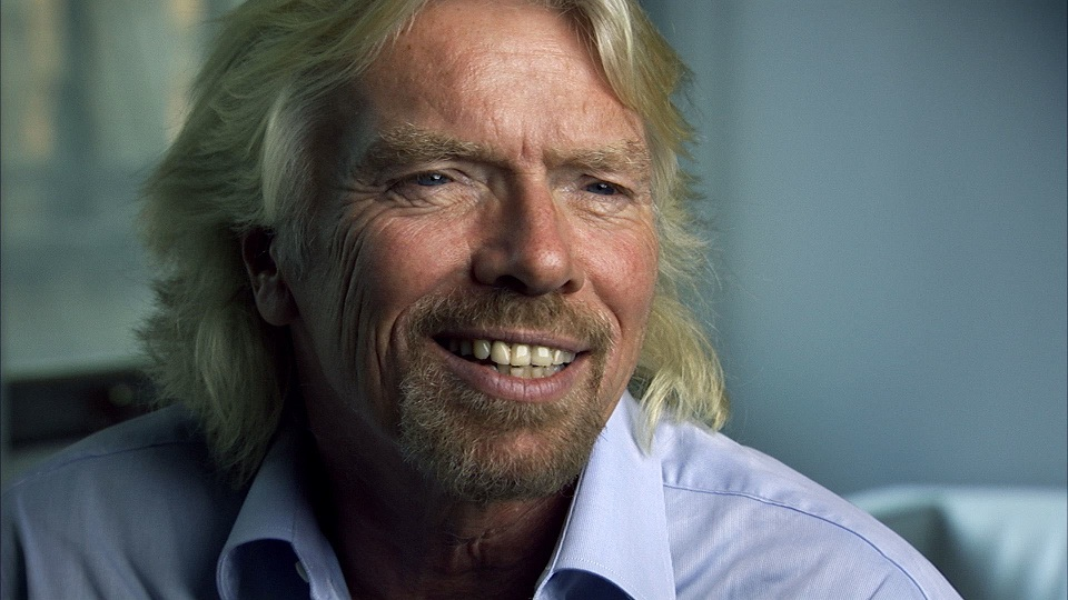 Busniess tycon Richard Branson front profile