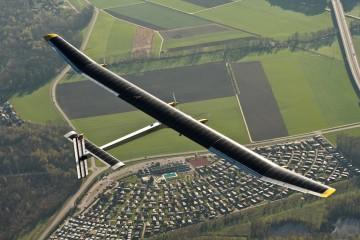 solar plane view