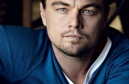 Hollywood actor Leonardo DiCaprio front profile