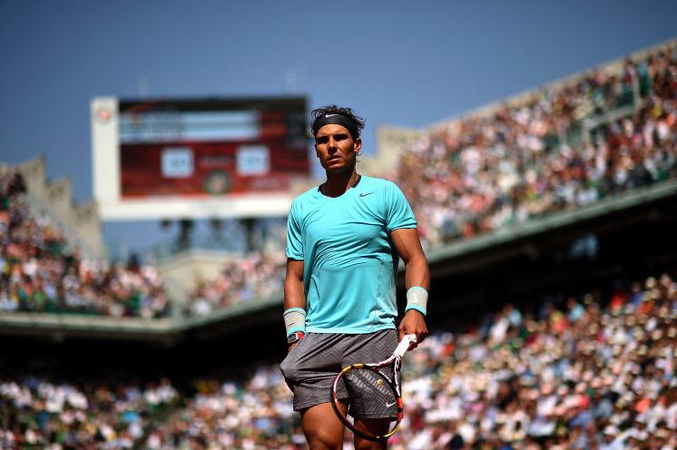 Rafael Nadal front profile