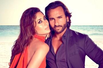 bollywood couple saif ali khan and kareena kapoor side profile