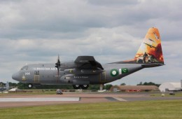 PAF c-130 aircarft front profile