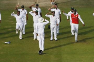 Pakistan cricket team salute to Misbha