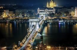 Hungary capital Budapest view