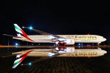 Emirates airline side profile