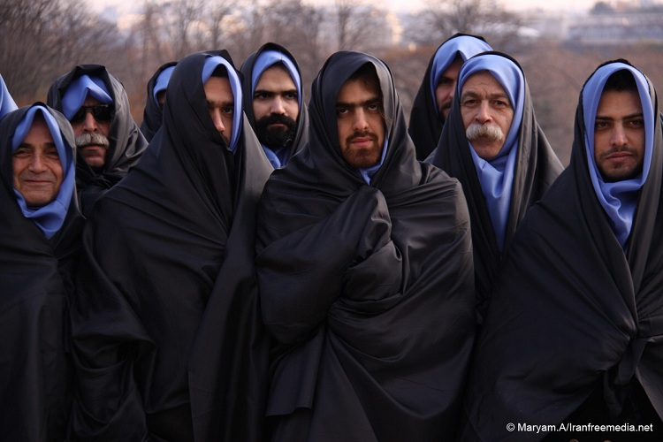 iranain man wear hijab