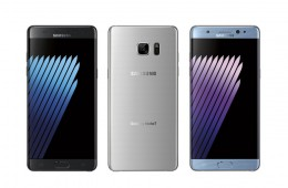 Samsung Galaxy Note 7 back and front profile