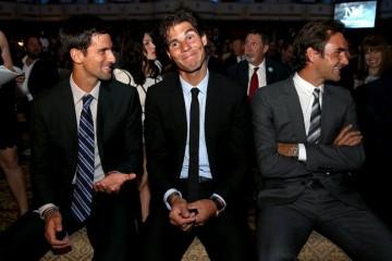 Novak Djokovic Roger Federer attend RIO OLYMPICS 2016
