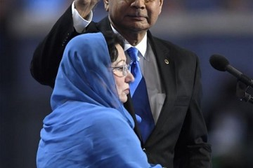 Khizr Khan with wife Ghazala Khan