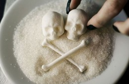 Sugar with human skeleton