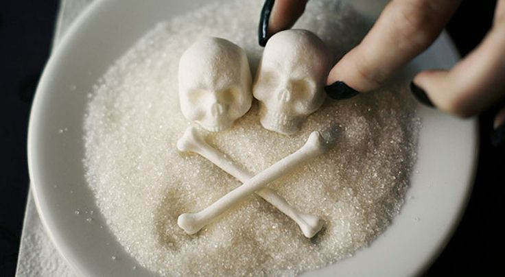 Sugar with human skeleton