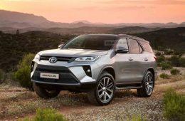 Toyota Fortuner 2020 Facelift front profile