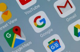 Google Apps on Phone Screen