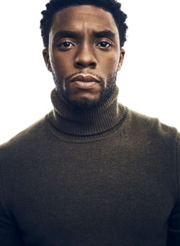 Chadwick Boseman Turtleneck Headshot