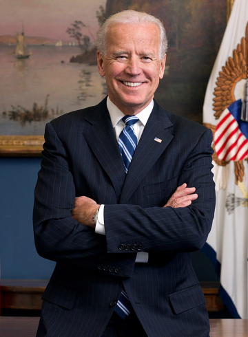 US President-elect Joe Biden front profile