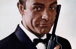 Sean Connery as James Bond front profile shot by Ronald Grant